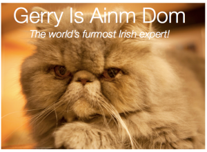 'Gerry Is Ainm Dom', the new book from the world's furmost Irish expert.